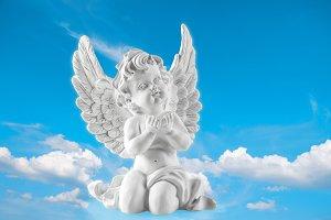 Guardian angel in blue sky