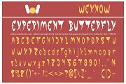 experiment butterfly font