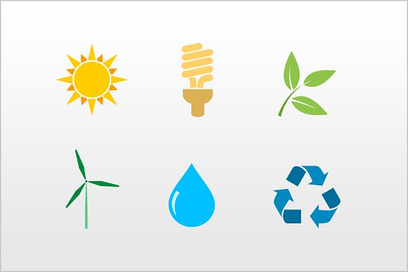 Eco-friendly icons