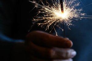 Hand held sparkler