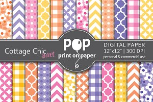 Cottage Chic - 24 digital papers