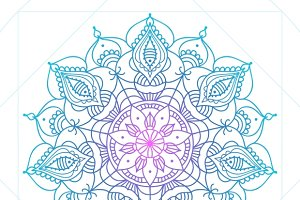 Mandala thin line indian style