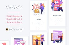Digital agency illustration pack