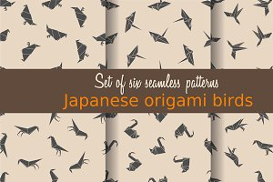 Japanese origami birds patterns