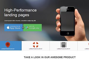 Responsive app landing page twbs-3