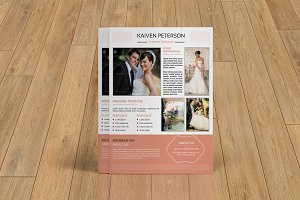 Wedding photography flyer-V120
