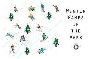 Winter games in the park