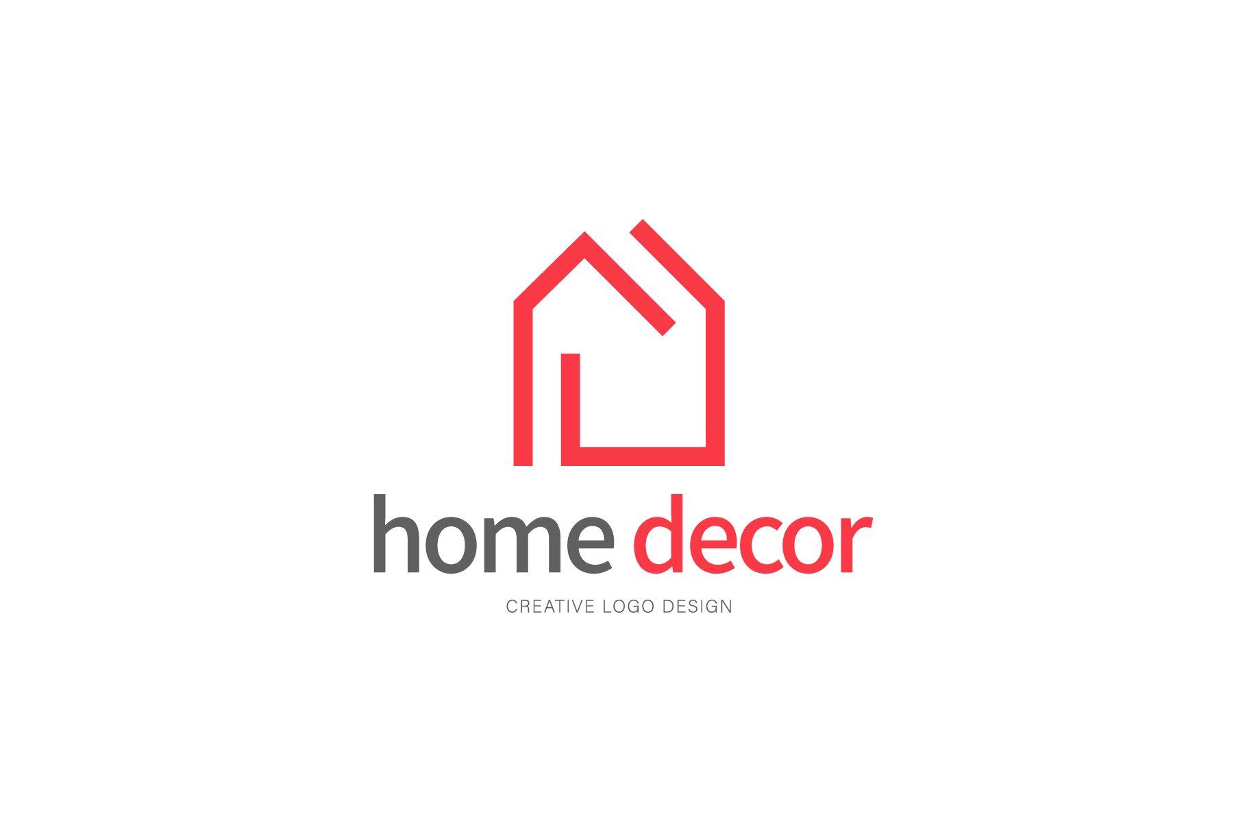 Home Decor Logos Creative Illustrator Templates Creative Market