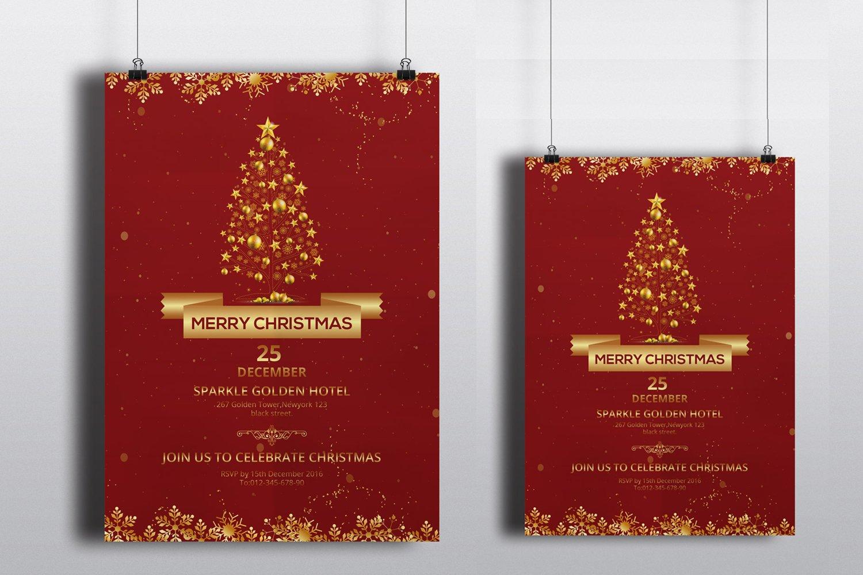 christmas invitation flyer v154 flyer templates on creative market christmas party flyer v122