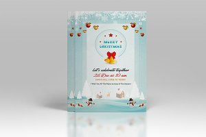Christmas Invitation Template-V123