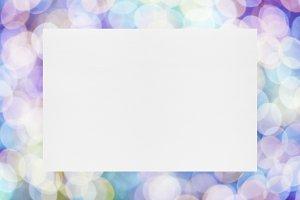 Paper sheet on festive background