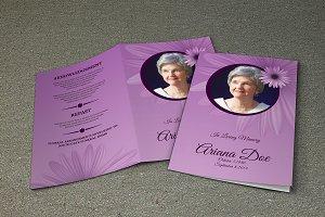 Funeral Program Template-V264