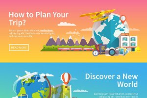 Travel web banner