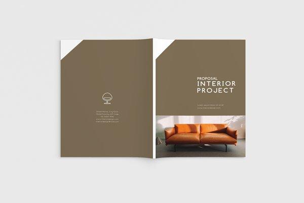 Interior Room  Brochure Magazine