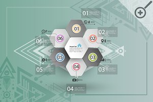 Abstract hexagonal infographic