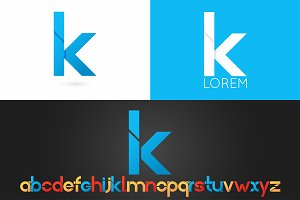 Letter K logo vector icon