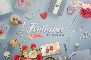 Feminine — Mockup Scene Generator
