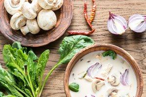 Thai coconut cream soup
