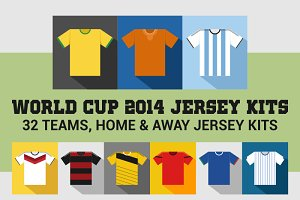 World Cup 2014 Jersey Kits