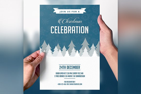 Christmas Party Invitation Flyer Flyer Templates Creative Market – Creative Party Invitation