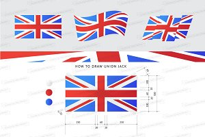 How to draw Union Jack