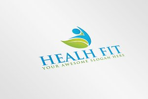 Health Fit Logo Template