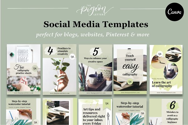 10 Earthy Templates for Pinterest
