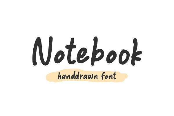 Notebook - Handdrawn Font
