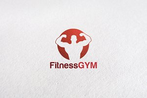 Premium Fitness Center Logo Design