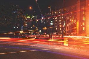 London Traffic Light Trails