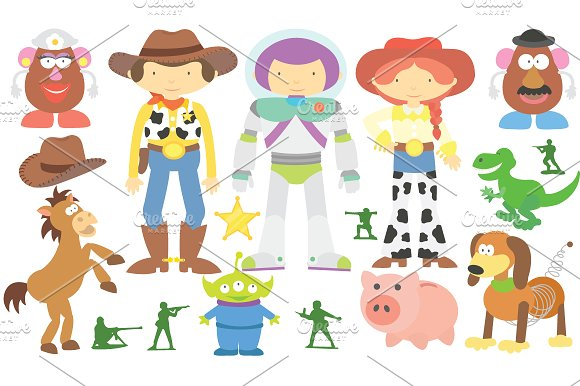 Toy Story Clipart Set ~ Illustrations on Creative Market