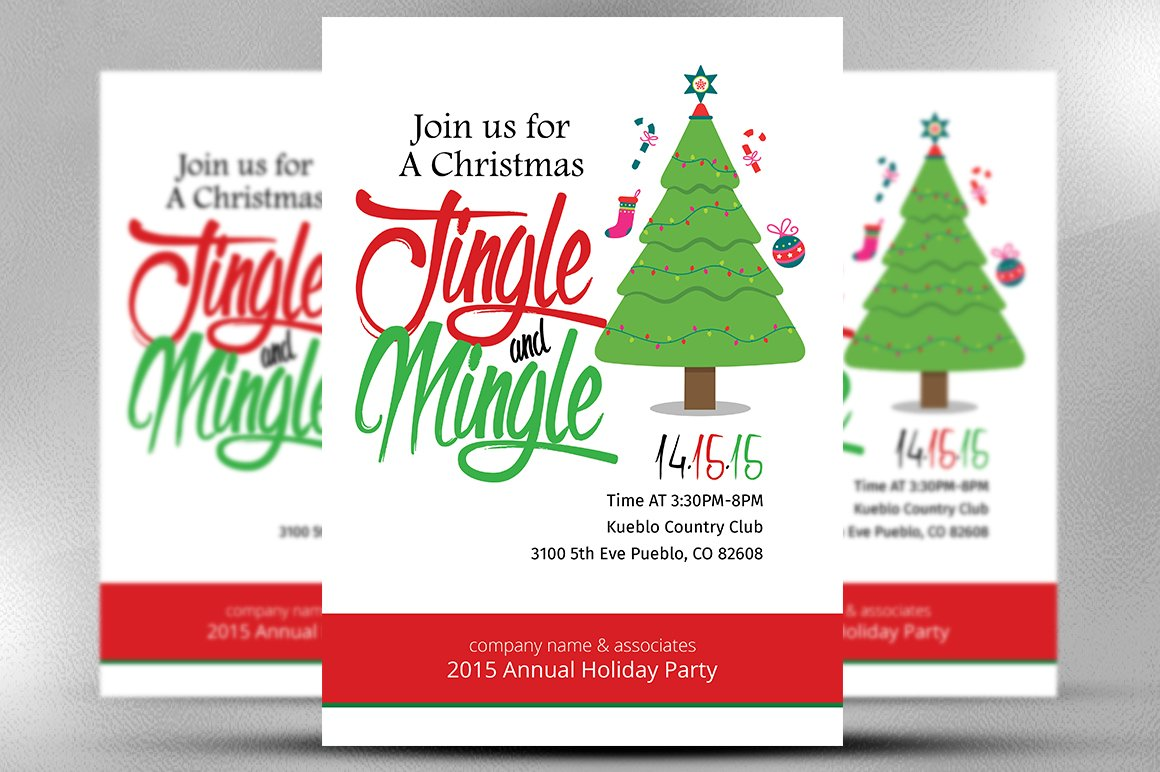 Christmas Office Invitation Flyer ~ Flyer Templates ~ Creative Market