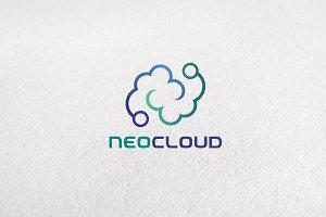 Letter N, Data, Cloud Logo Templates