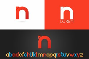 Letter N logo vector icon