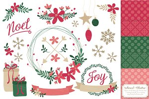 Pretty Christmas Wreaths & Patterns