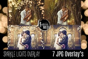 7 Sparkle Bokeh Lights JPG Overlays