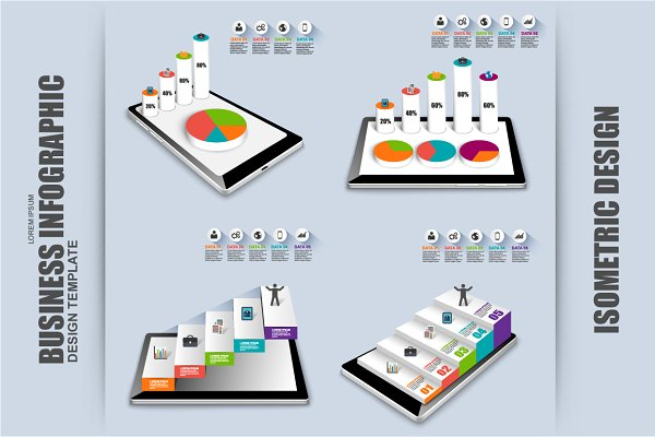 Isometric 3D Business Infographic