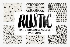 Rustic Hand-Drawn Patterns Vol 1