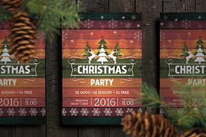 Flyer/Poster Christmas Party Retro
