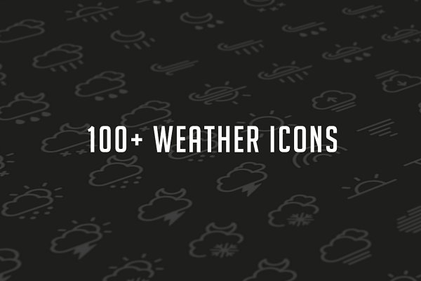 Weather Glyph Set