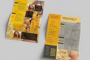 CV/Resume Template - A4 Portrait