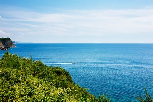 Aerial view of Adriatic sea