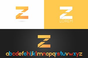 Letter Z logo vector icon