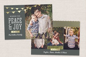 Christmas Card Template CC076