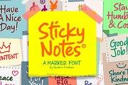 Sticky Notes - Marker Font