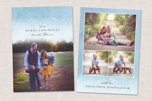 Christmas Card Template CC105
