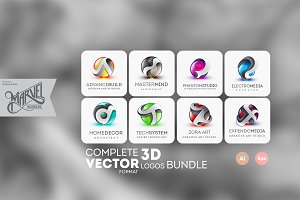 3D Logos - Marvel Bundle