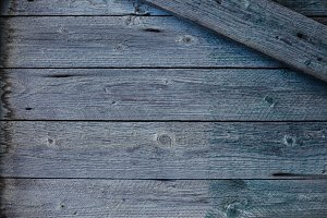 Texture of old blue wooden planks