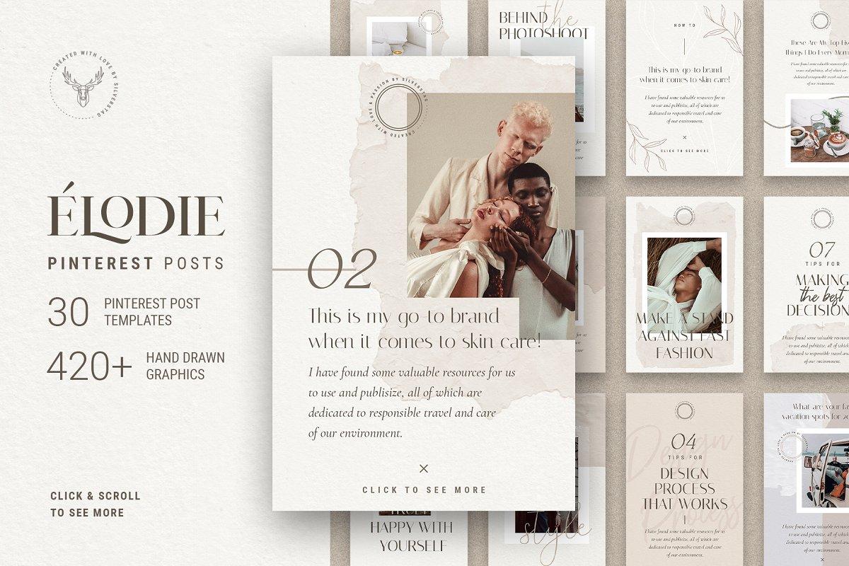 Elodie - Pinterest Post Templates