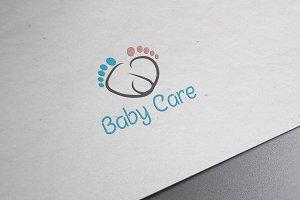 Baby's Footwear Logo Template